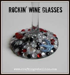 Make some fabulous bling wine glasses. Easy to make.