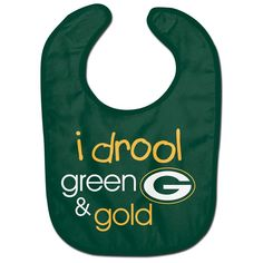 BRAND NEW Wincraft NFL Green Bay Packers I Drool  Mesh Baby Bib Easy Clean
