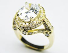 Engagement Ring - Oval Diamond Legacy Style Engagement Ring 0.80 tcw. In 14K Yellow Gold - ES126YG