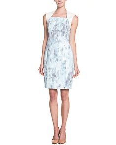 T Tahari's soft hues of this dress will make people look twice.  Beautiful, yet understated, can be a girl's best friend.