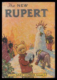 'The New Rupert' - 1954 Childrens Christmas Books, Childrens Books, Children's Comics, Thing 1, Vintage Book Covers, My Childhood Memories, Feeling Special, Vintage Children, Vintage Toys