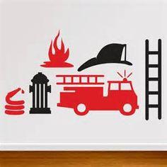 Printable Stencil Picture Firetruck Stencil Free