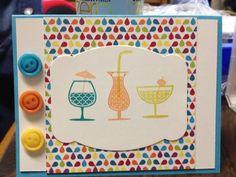 Stampin' Up! Happy Hour set, summer smooches designer paper