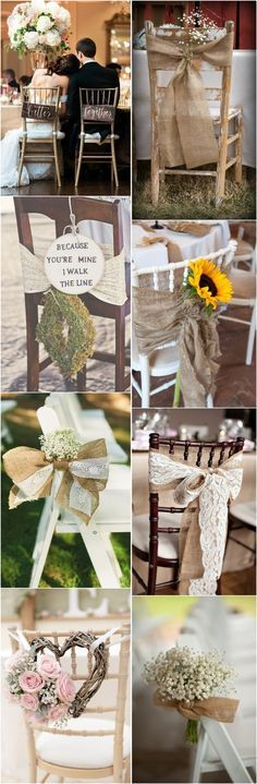 rustic wedding decor ideas-rustic wedding chairs