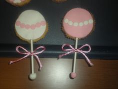 Cupcakes en forma de sonajero, para una Baby Shower!