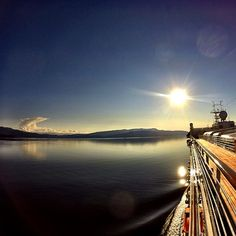 Sunset on a cruise ship leaving Juneau, Alaska