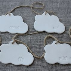 Ceramic clouds garland