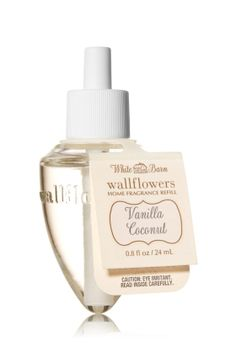 Vanilla Coconut Wallflowers Fragrance Refill - Vanilla chiffon and toasted coconut blend deliciously with notes of rich praline and sandalwood