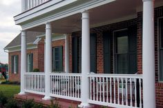 porch columns | Vinyl Railing and Porch Columns Pictures - HOOVER FENCE COMPANY