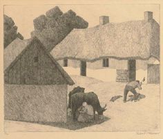 Robert Bevan: A Polish Homestead, 1922. Lithograph. The only one of his later prints not based on a painting.