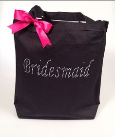 Bridesmaid Tote Wedding Tote Wedding Bag by BridalBlissCouture, $10.99