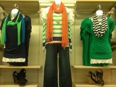 #spring #trends #nautical #green #orange #navyblue #scarf