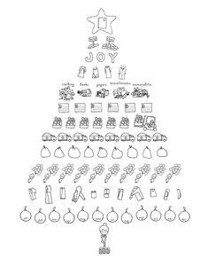Juju Sprinkles - 12 Days of Christmas KonMari Style - Coloring Page F R E E