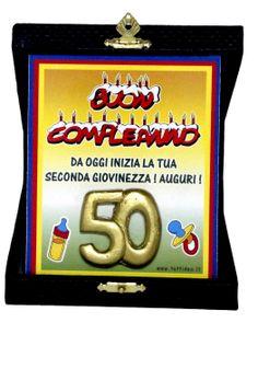 TARGA 50 ANNI PRODOTTI E ARTICOLI REGALO PER TUTTE LE FESTE DI COMPLEANNO