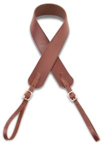 Camera Strap - Walnut w/ Black Stitch