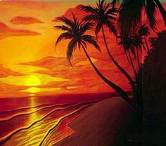 Sunset Beach Painting