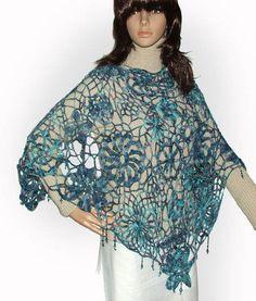 beaded crochet shawl