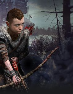 Atreus Hunting from God of War