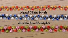 Video: Nepal Chain Stitch Beaded Bracelet and Anklet ~ Seed Bead Tutorials