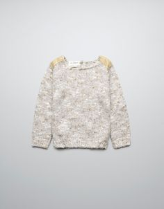 SWEATER WITH LEATHER SHOULDER PATCHES - Cardigans and sweaters - Girl (2-14 years) - Kids - ZARA United States