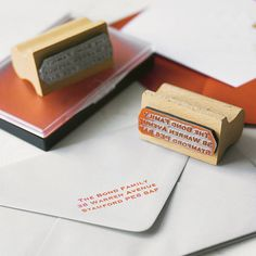 personalised rubber address stamp by english stamp | notonthehighstreet.com