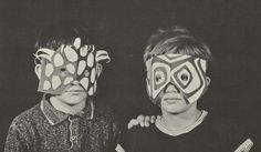 Scans from Paper Faces (1968) by Michael Grater  These DIY children's paper face masks are select excerpts from one of the many books created by the very talented Michael Grater, entitled Paper Faces. While many of his photographed examples of masks had certain sinister qualities to them, he somehow managed to portray a simple step-by-step guide which made the seemingly vexing task of creating his masks fun for the children interested in doing so.