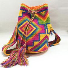 """Maya"" Hand Woven Mochila Bag"