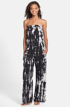 Hard Tail Strapless Drawstring Jumpsuit Available At