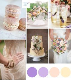 Color Inspiration|Palette of Lavender, Champagne .... really like this one too tho........... the bouquet is gorgeous!!!!
