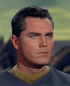 Captain Christopher Pike. Jeffrey Hunter, lovely eyes...Star Trek.