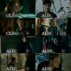 """SCREENCAPS: #Shadowhunters Character: Clary and Alec."""