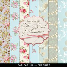 Far Far Hill: New Freebies Kit of Backgrounds - The End of Summe...