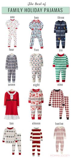 The Best of Holiday Pajamas for the whole Family! Matching pjs for baby and  toddler 899bc12b5