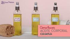 Luce una piel hidratada , atrévete y haz tu propio aceite corporal hidratante casero a base de aceites ricos en vitaminas e hidratantes.