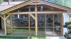 Vedeli ste, že kvalitné hliníkové profily môžu mať aj imitáciu dreva? Naša práca - Oščadnica Drevený altánok zasklenie a opláštenie