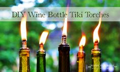 HOW TO MAKE A WINE BOTTLE TIKI TORCH. Hate mosquitoes...and looking for a way to get rid of them? Look no further. Check out post no. 1 of our Declaring War on Mosquitoes series.