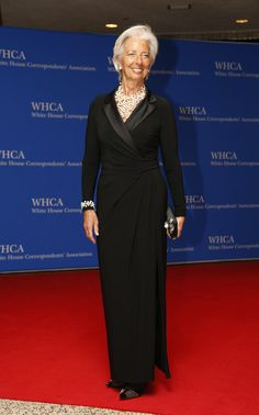 Managing Director of the International Monetary Fund, Christine Lagarde at Obama's last White House Correspondents Dinner.