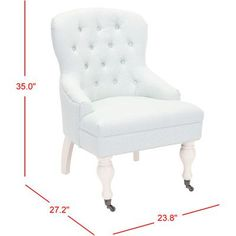 Three Posts Ramblewood Wing Arm Chair Upholstery: