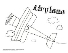 Airplane Coloring Sheets!!!!