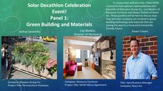 Poster for the Panel 1 of Solar Decathlon Celebration event. Resource Furniture, Decathlon, Solar, Celebration, Poster, Posters, Billboard