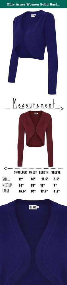 54c603428c Ollie Arnes Women Solid Basic Short Sleeve Versatile Bolero Shrug Knit  Cardigan. New addition to our Women s Short and Long Sleeve Boleros