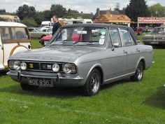 Luton Festival of Transport 2012 at Stockwood Park, Luton. Here is an immaculate Ford Cortina dating from Classic Cars British, Ford Classic Cars, Classic Trucks, Retro Cars, Vintage Cars, Cars Uk, Old Fords, Car Ford, Motor Car