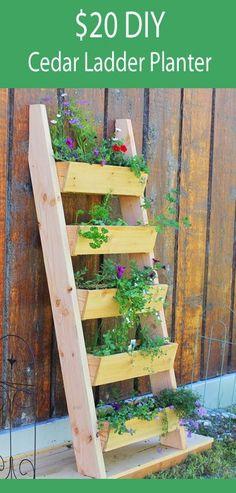 Vertical tiered ladder planter
