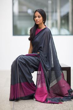 Tapsee Inspires Us to Wear Silk Sarees with Full Sleeve Blouse Cotton Saree Designs, Saree Blouse Designs, Stylish Sarees, Trendy Sarees, Indian Dresses, Indian Outfits, Saree Wearing, Sari Dress, Simple Sarees