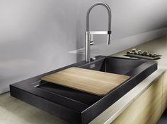 Countertop Silgranit® sink with drainer BLANCO MODEX-M 60 by Blanco