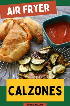 Air Fryer Calzones are quick and easy to make! Your family will love this air fryer recipe! #airfryer #calzones #mainmeal Breakfast Pockets, Main Dishes, Side Dishes, Best Air Fryers, Great Appetizers, Calzone, Savoury Recipes, Air Fryer Recipes, Serendipity