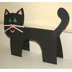 31 Easy & Adorable Construction Paper Crafts for Kids - Crafts for kids - DIY Paper Crafts For Kids, Cat Crafts, Easy Crafts For Kids, Animal Crafts, Toddler Crafts, Halloween Crafts, Art For Kids, Preschool Halloween, Holiday Crafts