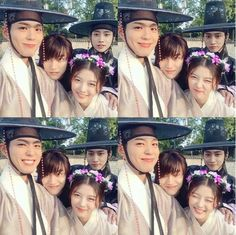 Kim Yoo Jung, Park Bo-gum, Kwak Dong-yeon and Jung Jin-young Park Bo Gum Moonlight, Moonlight Drawn By Clouds, Asian Actors, Korean Actresses, Korean Actors, Love In The Moonlight Jinyoung, Moonlight Korean Drama, Jin Young Moonlight, Kim Yoo Jung Park Bo Gum