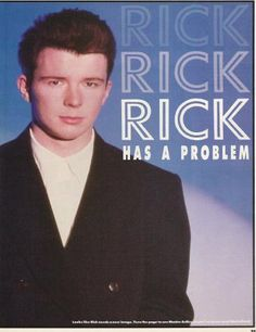 """""""Rick Has A Problem"""" By:Andrew Panos Number One-November 14,1987"""