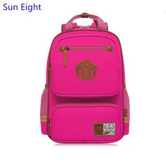 Sun Eight high quality hot pink school bags for girls women backpack  waterproof girl schoolbag children c562a4f7db22b
